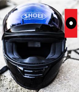 Anbringen einer Actioncam am Motorrad Helm - seitlich